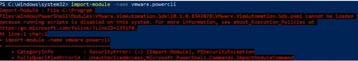 import module error